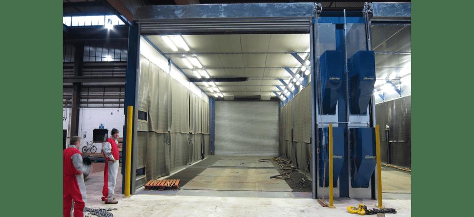 Panelled Booths For Abrasive Blasting