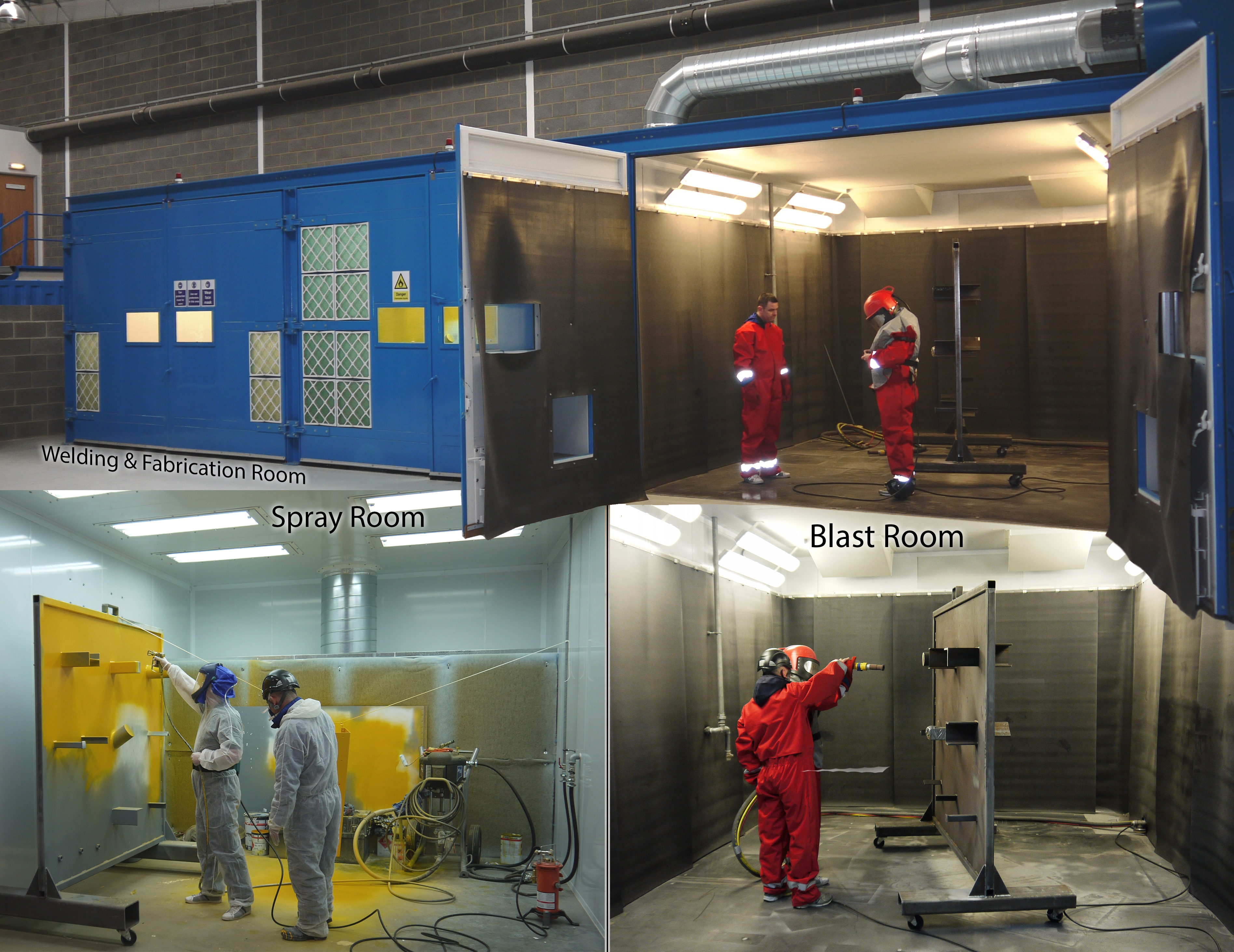 SELF-CONTAINED PRODUCTION ROOMS FOR PRODUCTION AND TRAINING