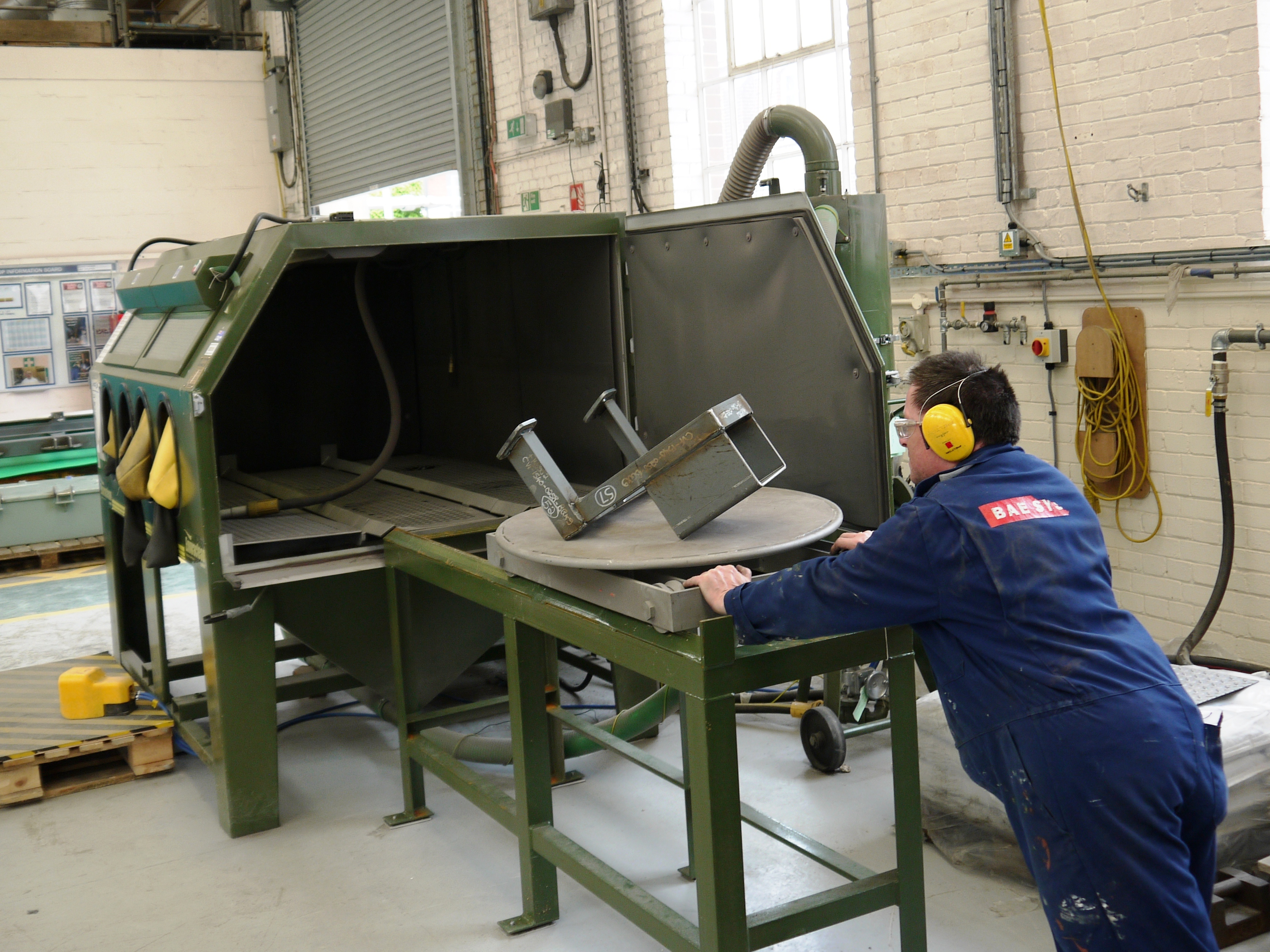 Sand Blasting Cabinets Custom Built Blast Cabinet Is Cost Saving Production Upgrade For