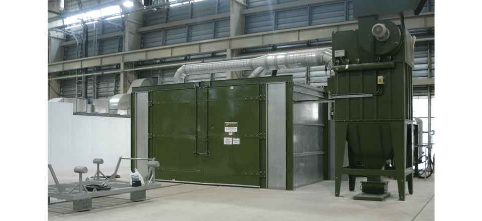 Panelled Booths For Abrasive Blasting